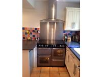 100cm Belling Gas Country Range with glass chimney hood