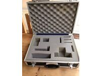 Foam padded camera 'flight case'.
