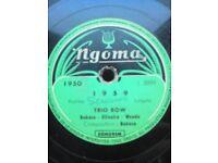 Rare African 78rpm - Congo Rumba Lingala - TRIO BOW (Bukasa, Oliveira & Wendo)