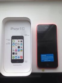 iPhone 5c in pink with box new screen £ 110 ono