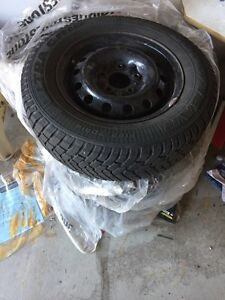 Set of 4 winter tires on Honda rims
