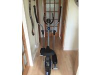 Pro fitness 2 in 1 exercise bike and cross trainer.