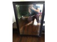 Wooden framed mirror 59cm x 82cm