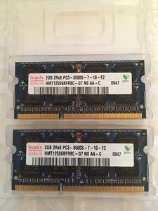 2 x 2 GB de mémoire