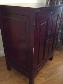 Double Door Dark Wood Unit - Can Deliver