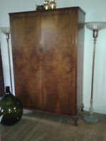 REDUCED CROTCH MAHOGANY WARDROBE CABINET4'W x 6'H x 2'D $599.00