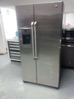 New GE Café 25 cu.ft side by side Refrigerator- stainless steel