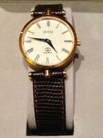 AUTHENTIC GUCCI 3000M SERIES MENS VINTAGE SWISS GOLD WRIST WATCH