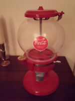 Coke decaled gumball machine