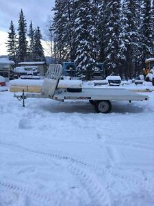 Two place snowmobile trailer, almost new!