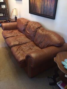 Brown Leather Couch!