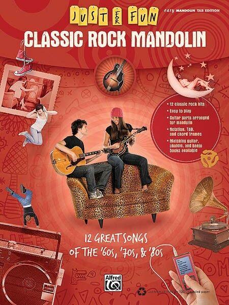 Classic Rock Mandolin Sheet Music Just for Fun Series Mandolin Book NE 000322271