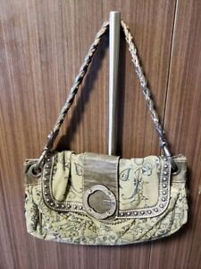 Green denim GUESS purse