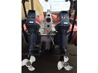 TWIN 60hp yamaha outboard engines