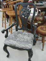 refinished stunning antique ornate chair