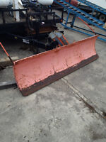 snowplow blade and harness