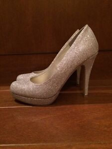 Size 7 - Sparkly Silver Heels