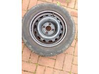 175 65 r14 Part Worn Tyre (6mm) on Vauxhall rim