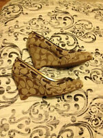 Coach Wedges size 6.5