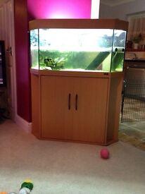 Juwel delta 100 aquarium and cabinet