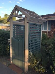 Solid wooden entrance archway and gate - great condition Narrabundah South Canberra Preview
