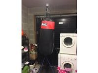 Lonsdale boxing punch bag with stand and gloves