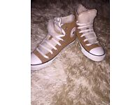 Brown suede converse
