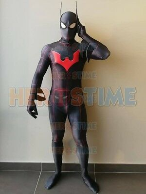 Batman Beyond DyeSub Superhero Costume 3D Printing Cosplay Suit For Adult/Kids - Adult Batman Beyond Costume