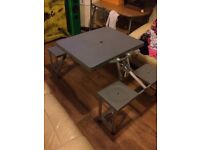 Folding Picnic Table & Chairs