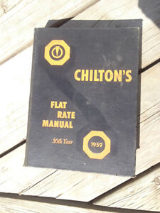 Chiltons 1959 shop flat rate manual