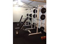 Commercial adjustable benches, bench press, weights