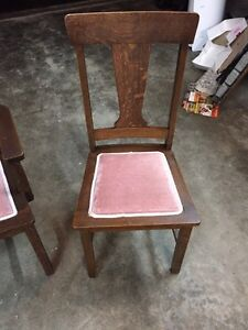 Antique Wooden chairs _ $180- for all 5