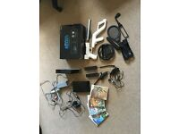 Nintendo wii (black) with accessories and games