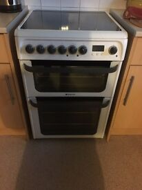 Hotpoint double oven and grill