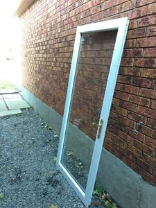 Glass Front Door - White & Gold - Willing to take best offer