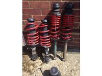 Genuine Golf Mk3 GTi struts and lowering springs.