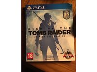 Rise of the tomb raider game- PS4
