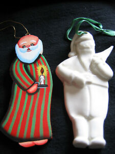 """THE ODD COUPLE"" SANTA HAND CRAFTED TREE ORNAMENTS"