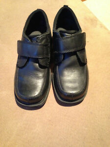 Boy's Black Leather Shoes