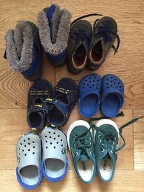 Bundle of toddler kids shoes