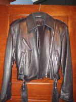 Leather jacket size small