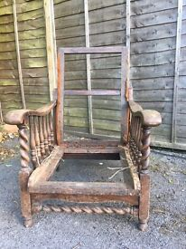 Arts and crafts arm chair
