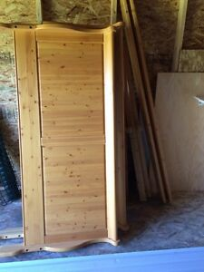 Knotty pine queen bed