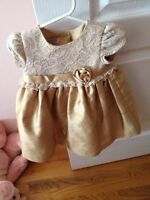 Gold special occasion dress