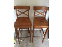 Bar chairs. Wooden