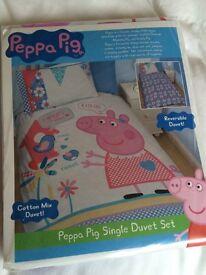 New Peppa Pig bedding, beach towel & pillow