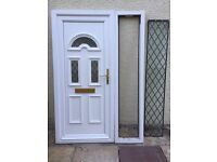 Anglian UPVC front door with side panel
