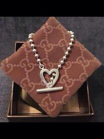 Gucci Toggle Heart Bracelet - 17cm