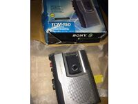 Sony TCM Tape Voice recorder up to 25h