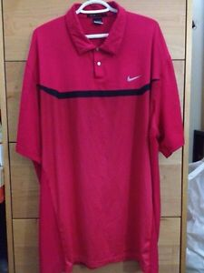 Nike Tiger Woods Collection Polo Shirt Red XXL